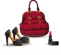 时尚女性物品矢量素材