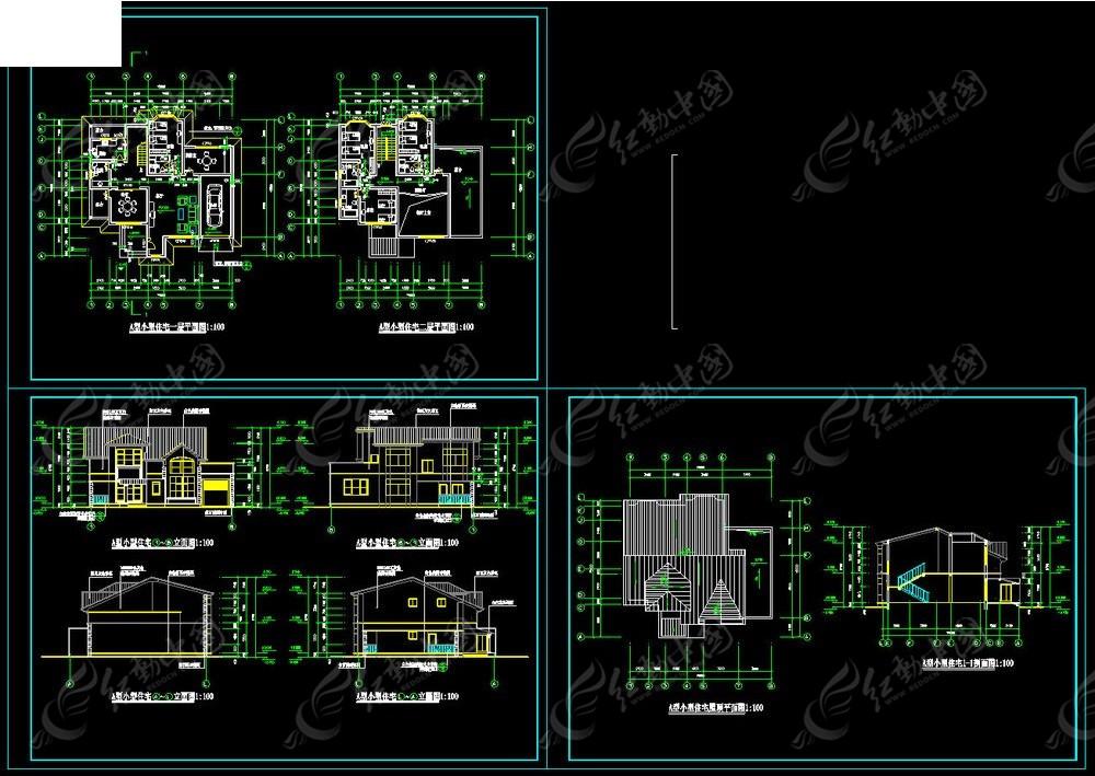 a型别墅设计图纸