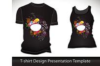 T恤花纹流行图案