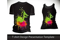 T恤花纹音乐流行图案