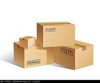 包装纸箱矢量素材