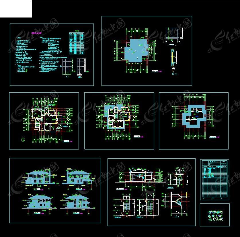 独栋别墅建筑施工图