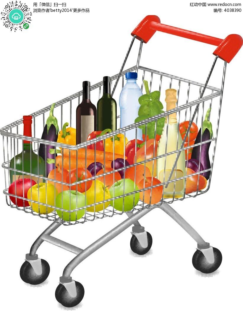 商场超市购物车图片素材