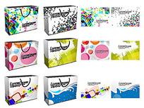 多彩几何图案购物袋