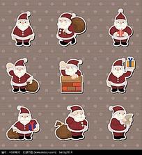 可爱卡通圣诞老人图标