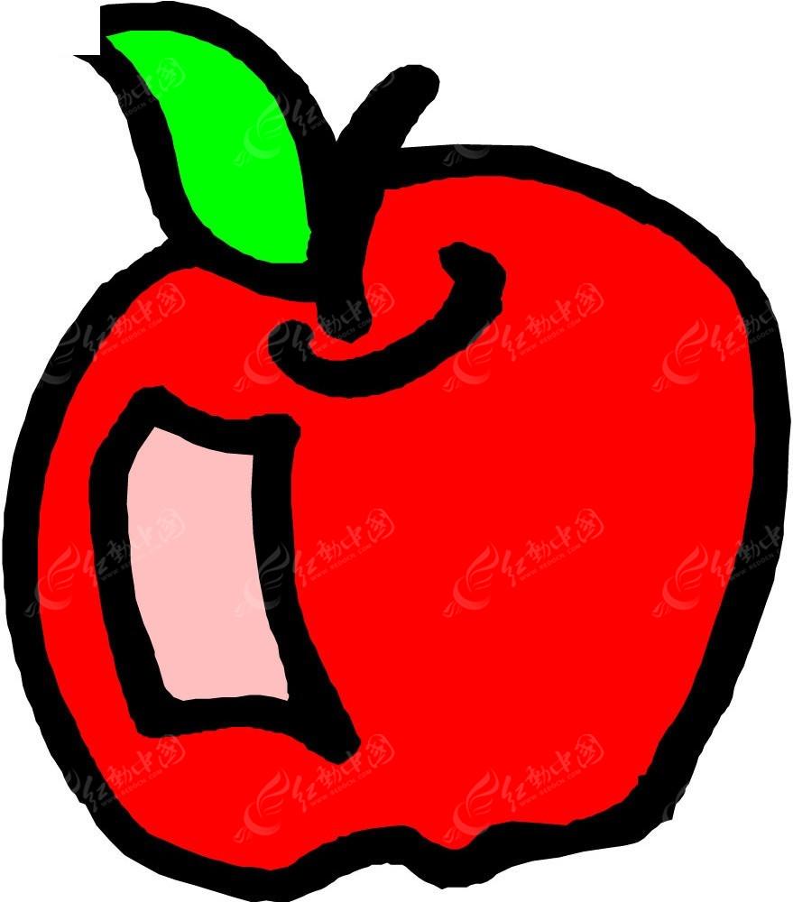 红苹果手绘线描画