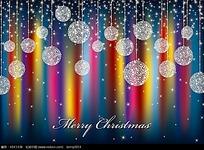 圣诞节精美吊球背景矢量素材