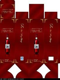 王朝干葡萄酒包装展开图