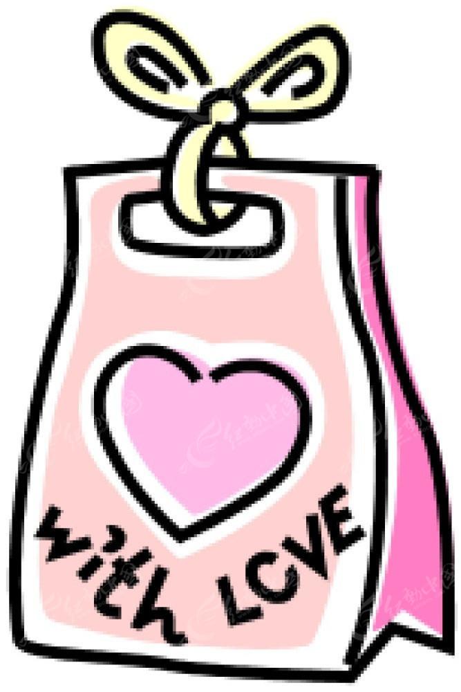 广告设计图片手绘图-心形礼物袋手绘画EPS素材免费下载 编号4041794 红动网图片