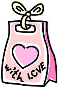 心形礼物袋手绘画