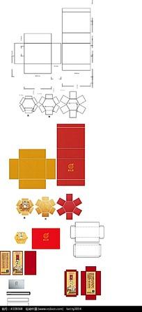 包装盒展开图模板图片
