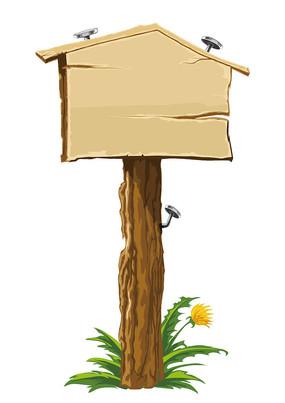 木板指向标 方向标 挂牌 标示牌