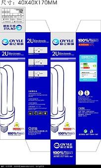 蓝色背景节能灯管包装设计