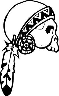 印第安装饰的骷髅头