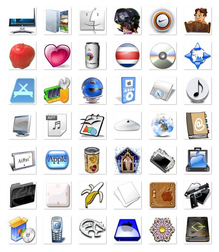 电脑和苹果等质感 图标