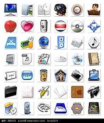 电脑和苹果等质感图标