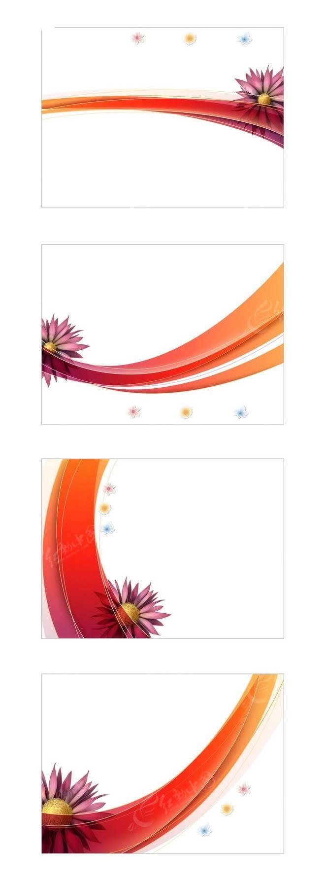 花朵和曲线等矢量素材