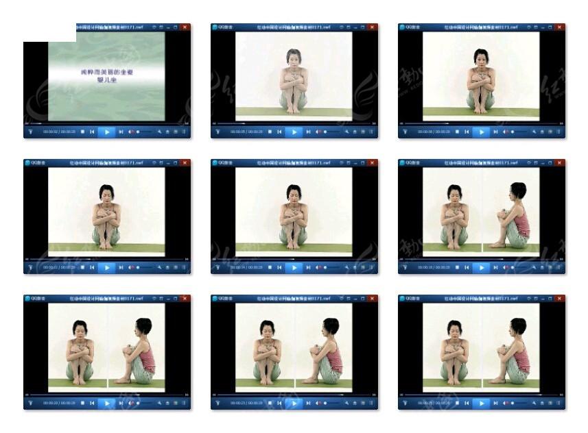 瑜伽减肥健身视频素材图片