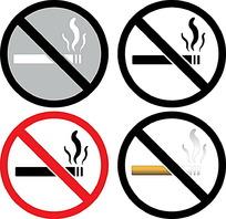 禁烟标志矢量素材