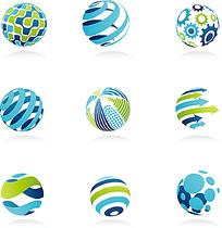 图片森林图标圆形_立体图标圆形设计素材在spss绘制中立体图图片