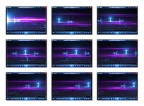 蓝紫色流光视频