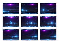 蓝紫色星光光晕视频