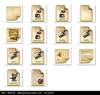 老式唱片机和图片等图标