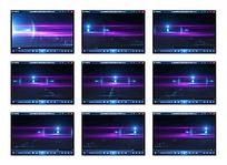 紫色粒子背景视频
