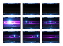 紫色粒子流光视频