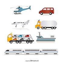 飞机和汽车等矢量元素