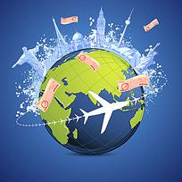 全球旅行矢量素材
