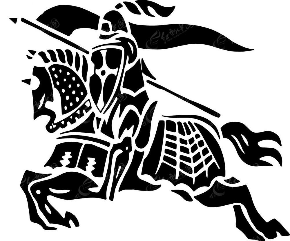 矢量骑马的士兵图形设计