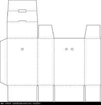 矢量商业包装盒设计平面图