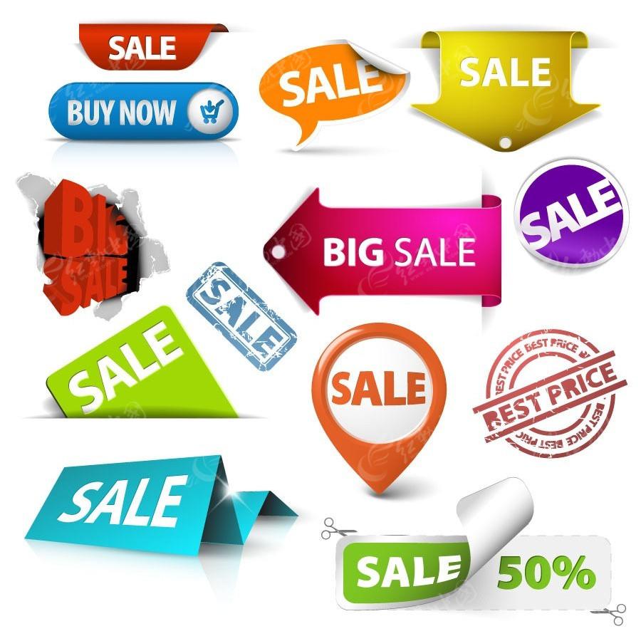 网店促销活动广告标签设计图片