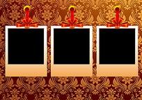 红色蝴蝶结相片花纹包装设计