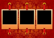 欧式花纹丝带相片矢量