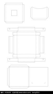 矢量异形包装盒-刀模
