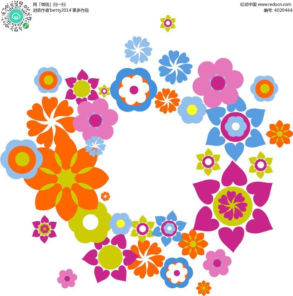 手绘鲜花花纹边框