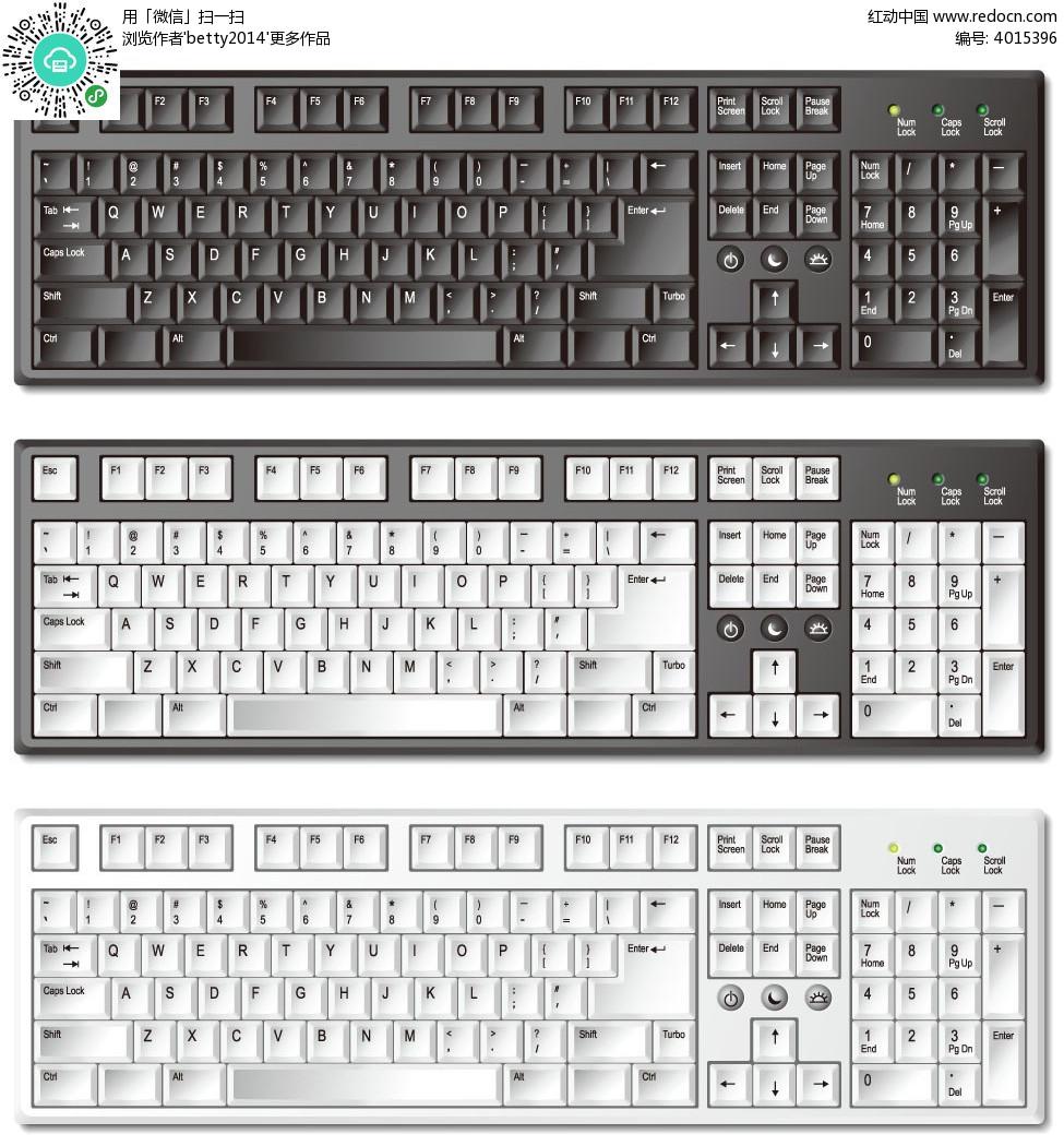您当前访问素材主题是逼真矢量电脑键盘,编号是4015396,文件格式eps图片