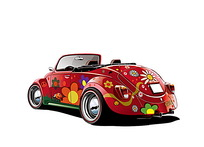 彩绘汽车矢量素材