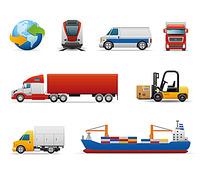 交通工具图标矢量素材