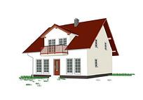 立体小房子图标矢量素材