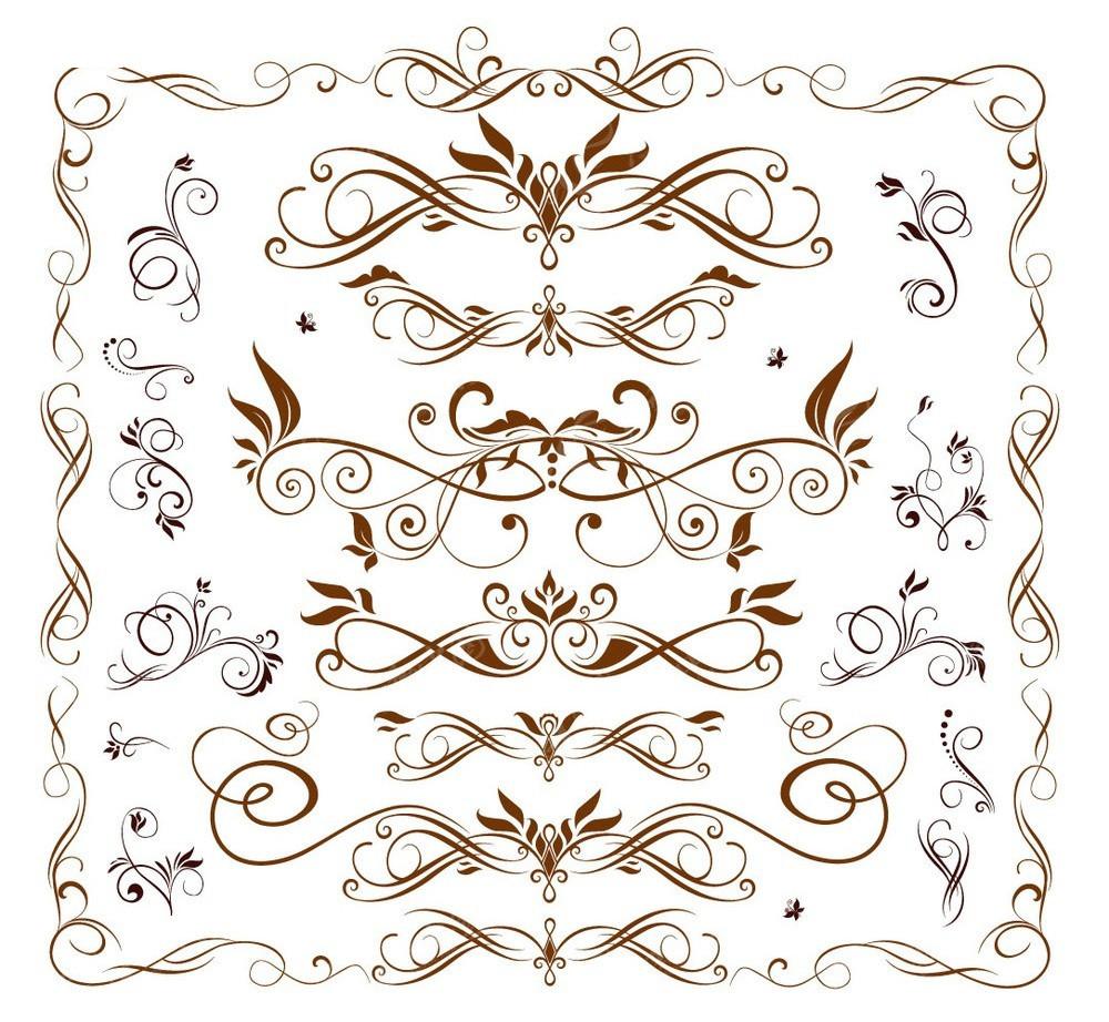 欧式花纹边框素材集合图片