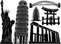 世界著名建筑物建行剪影