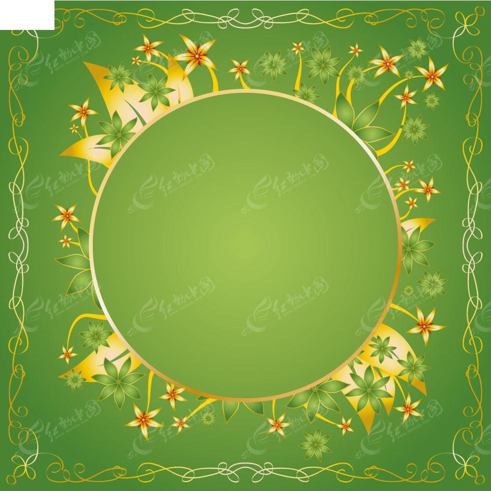 矢量金色花纹边框素材EPS免费下载 编号4019648 红动网