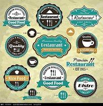 优质保证咖啡矢量促销标签