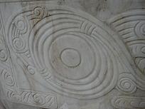 大理石上的雕刻图案3D材质贴图