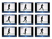 跑步运动轨迹视频
