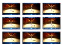 十字架旋转视频素材