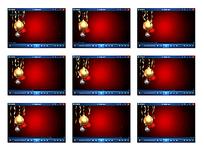 红色圣诞装饰视频